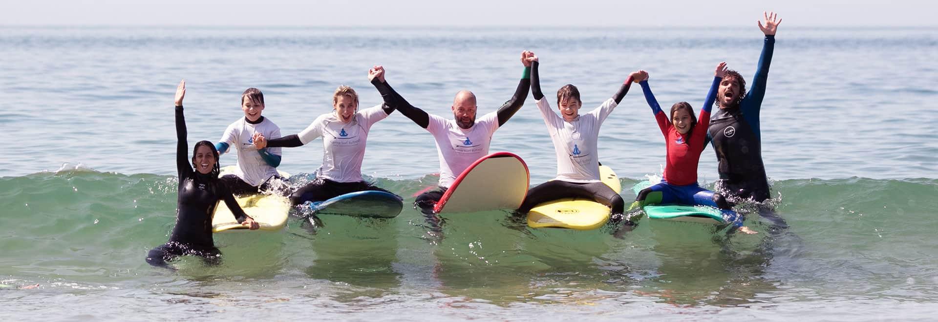 family surf kids lessons lisbon algarve