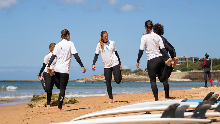 group lessons intermediate surfers lisbon