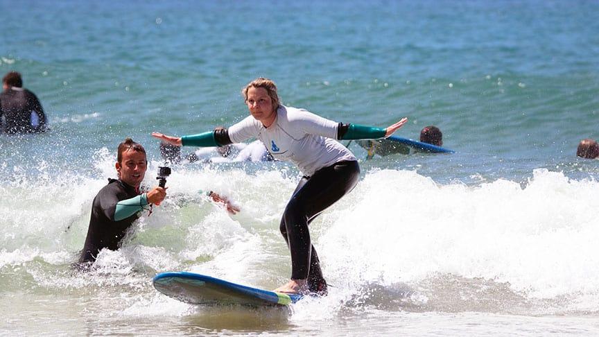 video analysis surf lessons cascais lisbon school