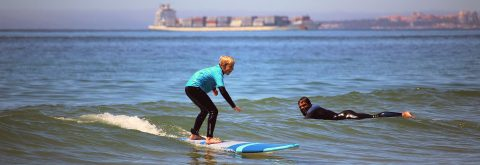 Kids friendly surf Lessons